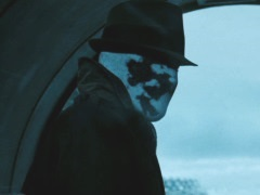 Rorschach responding to Dan, before exiting the Antarctic base